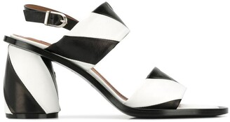 Sartore Striped Slingback Sandals