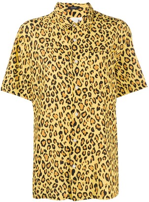 R 13 Leopard Print Shirt