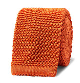 Richard James 6cm Knitted Silk Tie - Bright orange