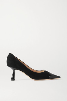 Jimmy Choo Rene 65 Suede And Patent-leather Pumps - Black