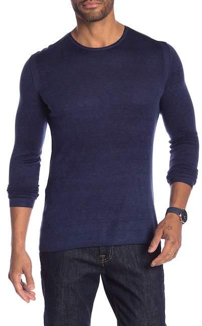 John Varvatos Crew Neck Silk & Cashmere Sweater