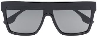 Shield square-frame sunglasses