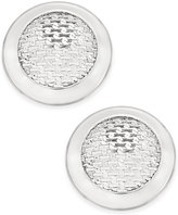 Charter Club Silver-Tone Textured Stud Button Earrings, Only at Macy's