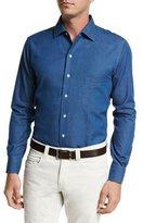 Loro Piana Andre Denim Button-Down Shirt
