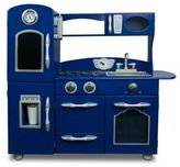 Teamson Kids Wooden Play Kitchen Set in Navy