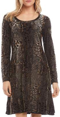 Karen Kane Snake-Patterned Burnout Dress
