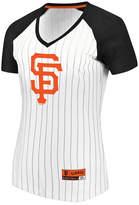 Majestic Women's San Francisco Giants Every Aspect Pinstripe T-Shirt