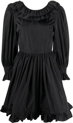 MSGM Ruffle-Detailing Long-Sleeve Mini Dress