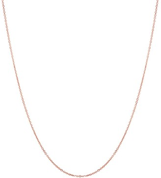 """Saks Fifth Avenue 14K Rose Gold Cable Chain Necklace/22"""" x 0.90mm"""