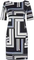 Geometric Printed Shift Dress
