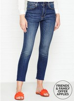 Whistles Ultimate Fit Raw Hem Skinny Jeans
