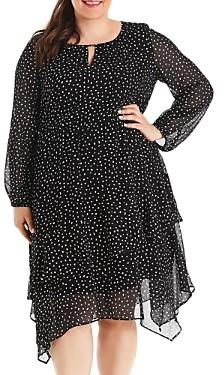 Estelle Plus Pebble Spot Print Midi Dress