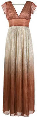 Liu Jo Ombre-Effect Plisse Dress