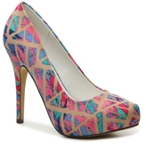 Michael Antonio Launey Printed Platform Pump