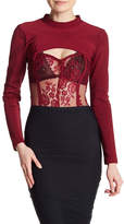 Wow Couture Lace Cutout Bodysuit