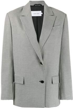 Calvin Klein houndstooth single-breasted blazer