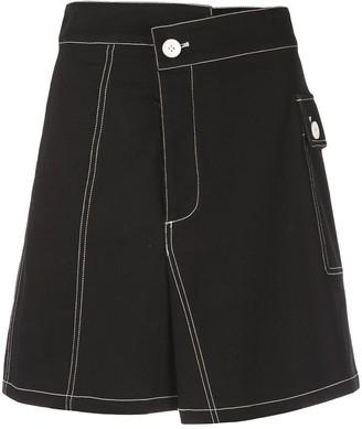 Proenza Schouler White Label PSWL Asymmetrical Utility Cotton Pocket Skirt