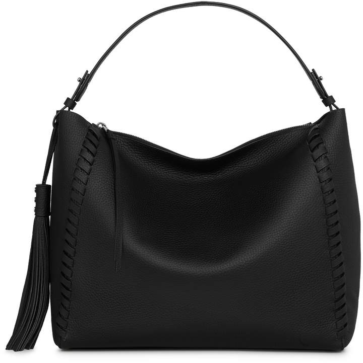 AllSaints Kepi East/West Leather Tote