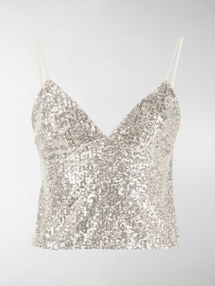 Rotate by Birger Christensen Sequin-Embellished Slip Vest