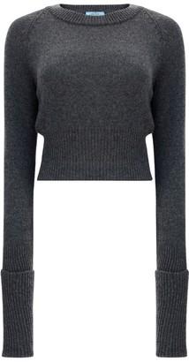 Prada Cropped Ribbed Sweater
