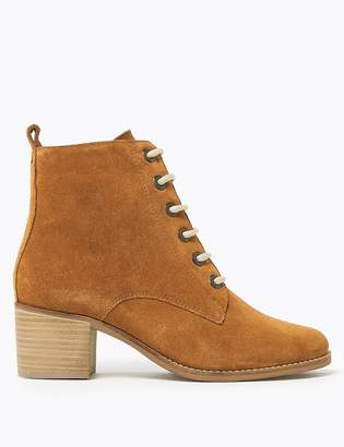M&S CollectionMarks and Spencer Suede Lace Up Ankle Boots