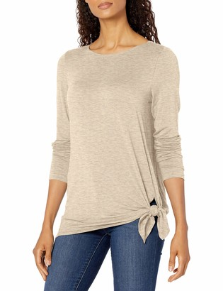 Max Studio Women's Long Sleeve Jersey Knit Top