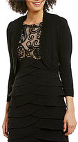 Jessica Howard Scalloped Cropped Bolero Cardigan