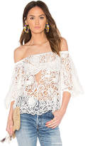 Elliatt Serenity Off the Shoulder Top in White. - size M (also in S,XS)