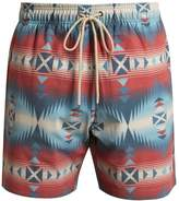 Faherty Aztec and jewel-print swim shorts