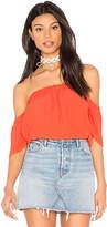 Blq Basiq Bare Shoulder Top in Orange. - size 0 (XS/S) (also in 1(M/L))