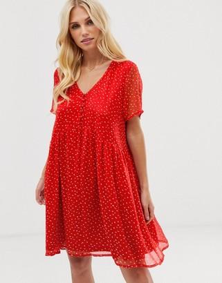 Vero Moda ditsy floral smock mini dress