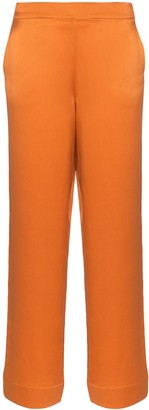 ASCENO Pyjama-Style Wide-Leg Trousers