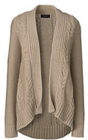 Classic Women's Petite Drifter Cable Cardigan Sweater-Blush Sand Heather