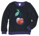 Little Marc Jacobs Toddler Girl's Faux Fur Cherry Pullover