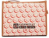 Connolly - Leather-trimmed Printed Canvas Pouch - Womens - Red Multi