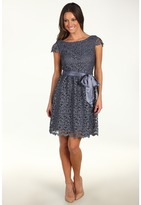 Suzi Chin for Maggy Boutique - Cap Sleeve Lace Dress (Steel) - Apparel