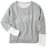 Design History Girls 7-16) Studded Love Sweatshirt