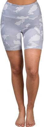 90 Degree By Reflex Lux Camo High Waisted Pocket Biker Shorts