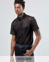 Reclaimed Vintage Lace Shirt In Reg Fit