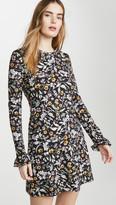 Les Rêveries Open Back Long Sleeve Mini Dress