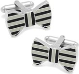 Cufflinks Inc. Men's Horizontal Striped Bowtie Cufflinks