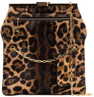 Bienen Davis PM leopard print haircalf bag