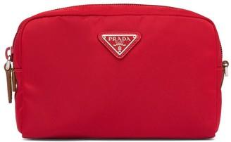 Prada Logo Plaque Zipped Make-Up Bag