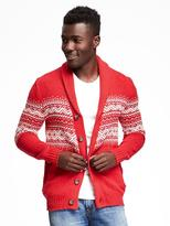 Old Navy Shawl-Collar Fair Isle Cardigan for Men
