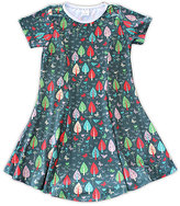Urban Smalls Green Woodland Whimsy Sublimated Swing Dress - Toddler & Girls