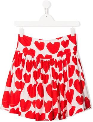 Stella McCartney Kids Hearts Print Skirt