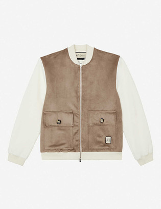 Prevu Argon faux-suede and jersey jacket