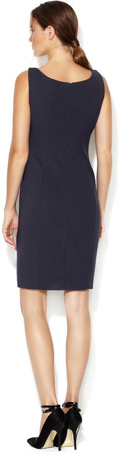 Elie Tahari Bernice Jacquard Silhouette Sheath Dress