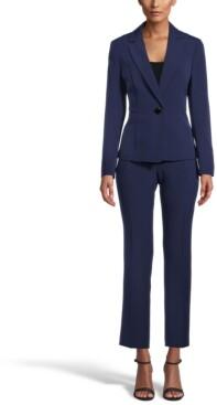Le Suit Petite One-Button Pantsuit