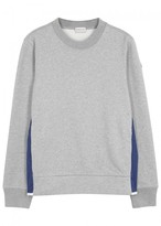 Moncler Grey Cotton And Shell Sweatshirt